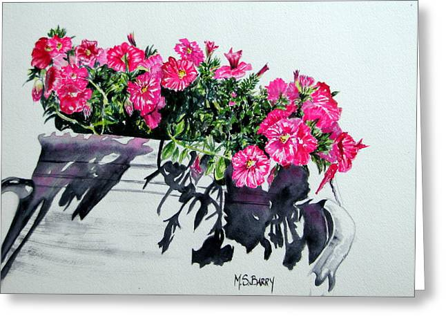 Pretty In Pink Greeting Card by Maria Barry