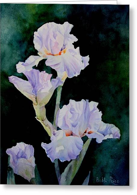 Pretty In Purple Greeting Card by Bobbi Price