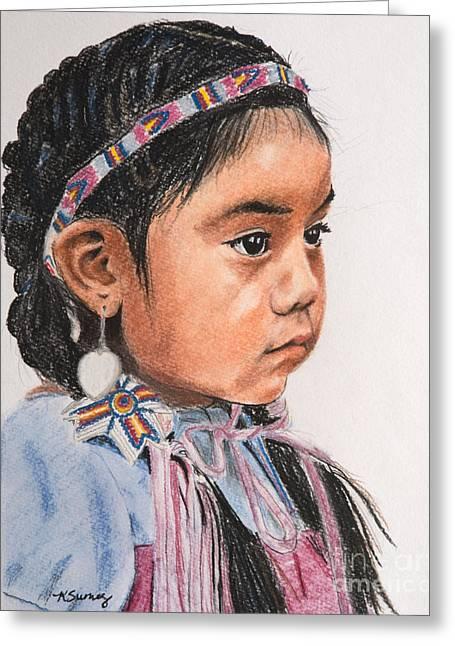 Pretty Native American Girl Greeting Card