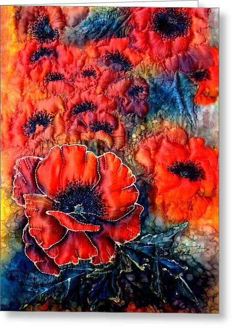 Pretty Poppies Greeting Card