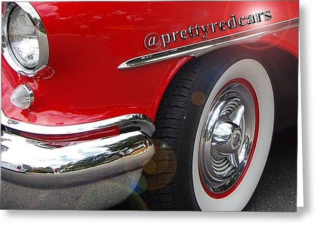 Prettyredcars Greeting Card