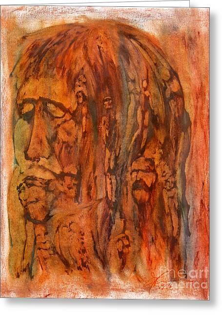 Primal Ancestry Greeting Card by Linda May Jones