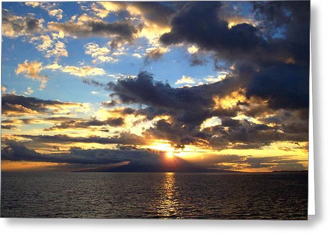 Primal Sun Greeting Card by Sean McDaniel
