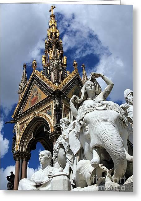 Prince Albert Memorial London Greeting Card by Sophie Vigneault