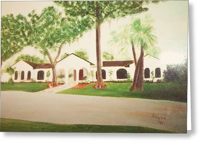 Prince Faisal's Home In Fl Greeting Card by Alanna Hug-McAnnally
