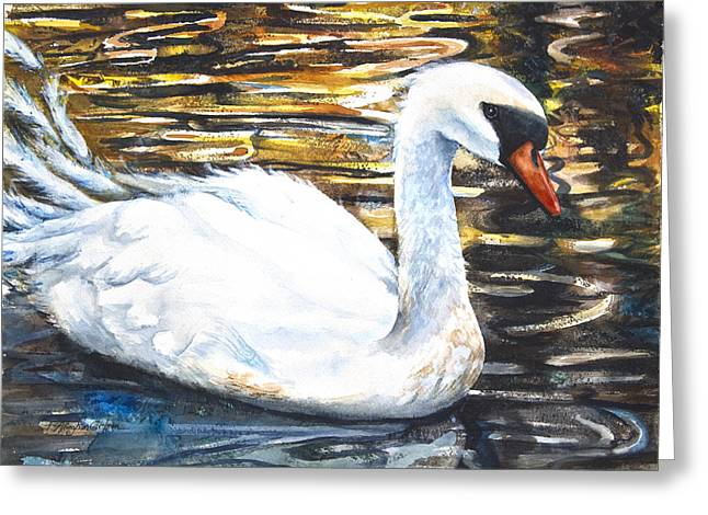 Prince Of Swans Greeting Card