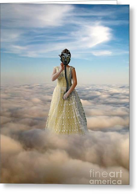 Princess In Gas Mask 3 Greeting Card by Jill Battaglia