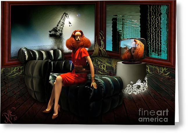 Greeting Card featuring the digital art Princess Of The River by Rosa Cobos