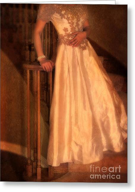 Princess On Stairway Greeting Card by Jill Battaglia