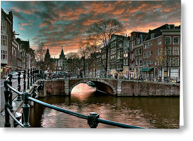 Prinsengracht And Reguliersgracht. Amsterdam Greeting Card