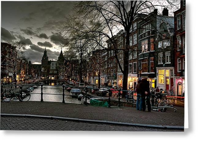 Prinsengracht And Spiegelgracht. Amsterdam Greeting Card