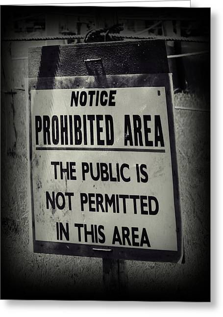 Prohibited Greeting Card by Sharon Lisa Clarke