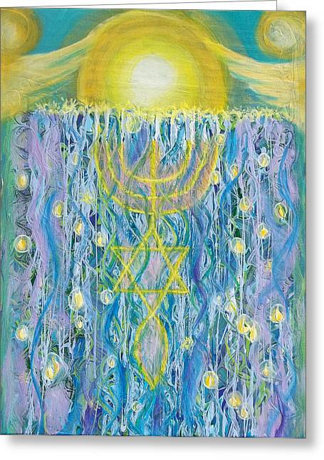Prophetic Message Sketch Painting 26 Elohim Elohim Latter Rain Greeting Card