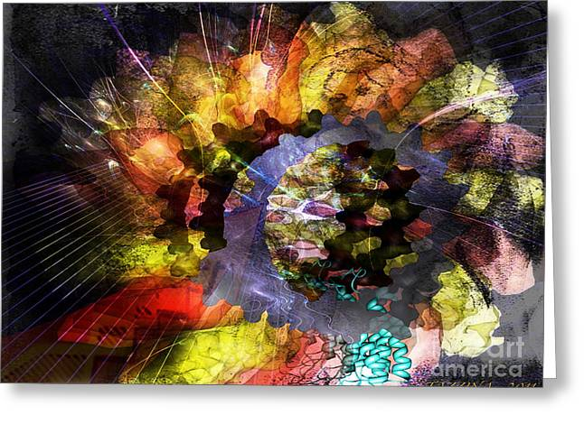 Greeting Card featuring the digital art Protein Fleur by Danica Radman