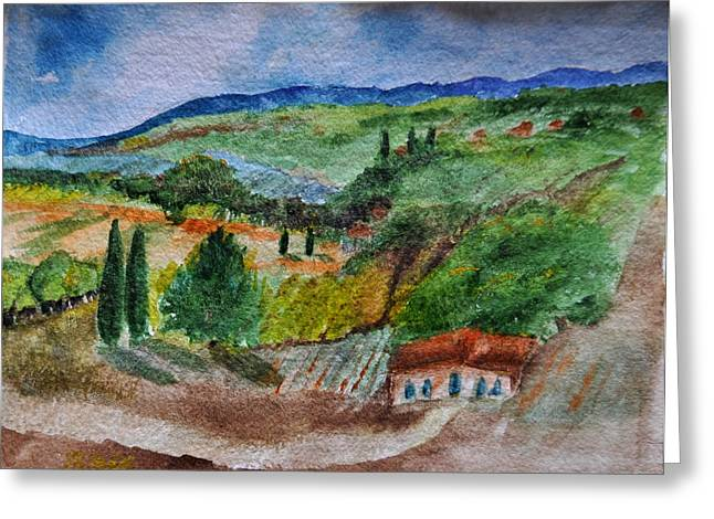 Greeting Card featuring the painting Provence Colors by MaryAnne Ardito