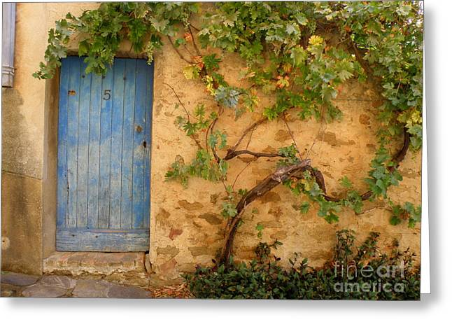 Greeting Card featuring the photograph Provence Door 5 by Lainie Wrightson