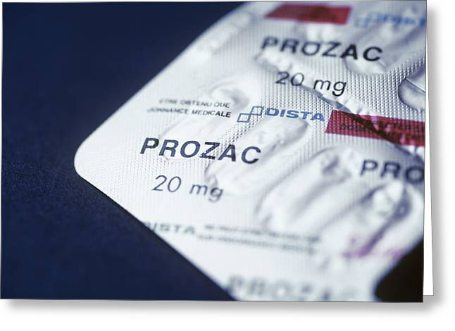 Prozac Greeting Card by Cristina Pedrazzini