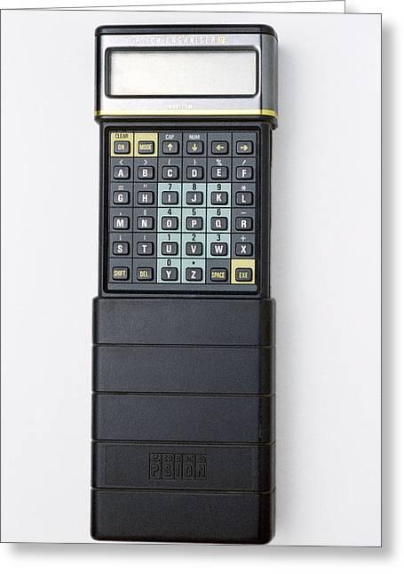 Psion II Organiser Greeting Card by Victor De Schwanberg