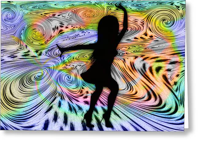 Psychedelic Dancer Greeting Card by Bill Cannon