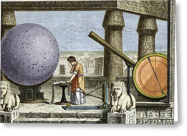 Ptolemy's Observatory, 2nd Century Ad Greeting Card by Sheila Terry