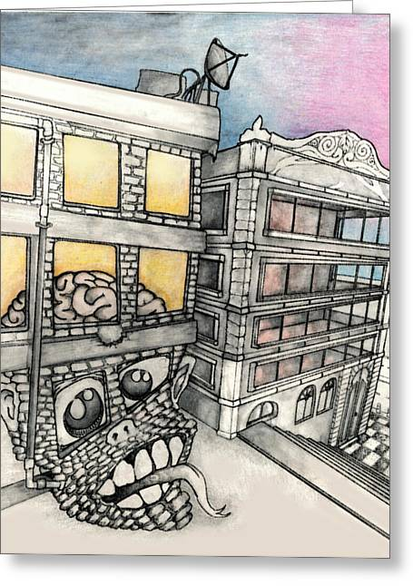 Public Golem Greeting Card by Can Rodrigue