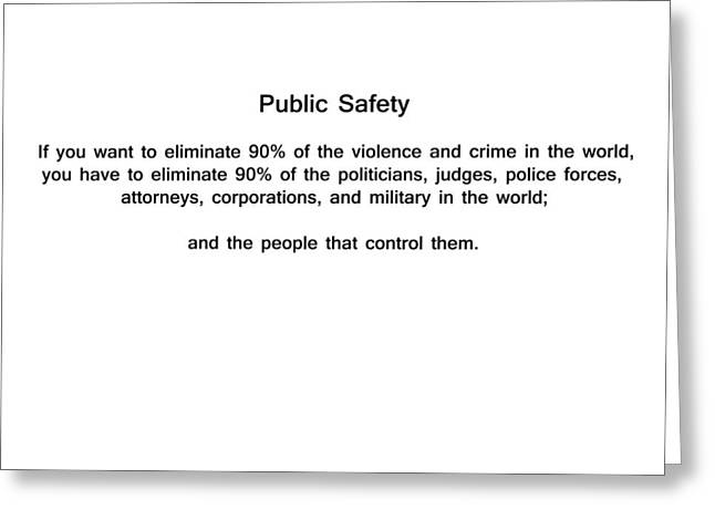 Public Safety Greeting Card