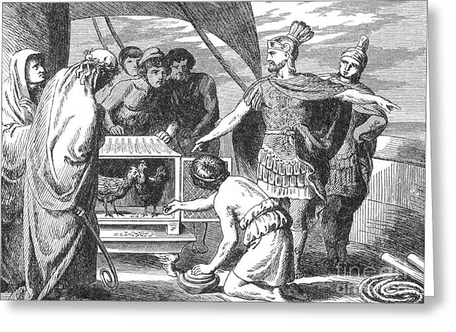 Publius Claudius Pulcher And The Sacred Greeting Card by Photo Researchers