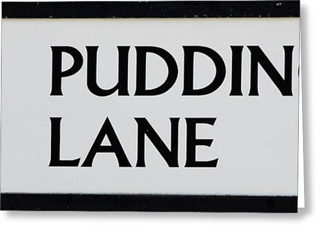 Pudding Lane Greeting Card by Dawn OConnor