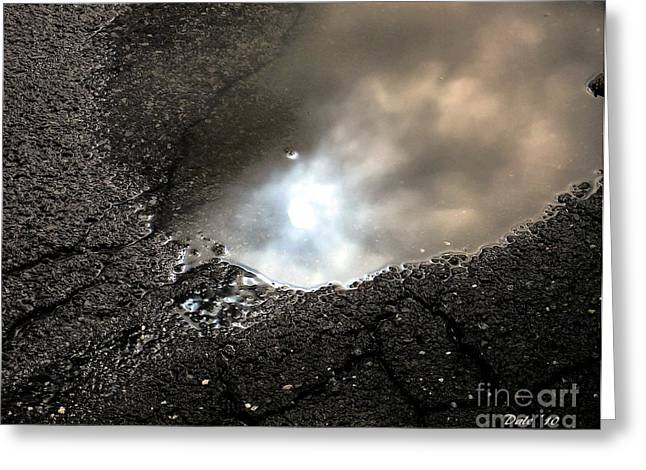 Puddle Art 7 Greeting Card by Dale   Ford