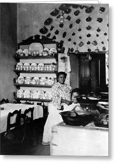 Puebla Mexico - Restaurant -  C 1908 Greeting Card