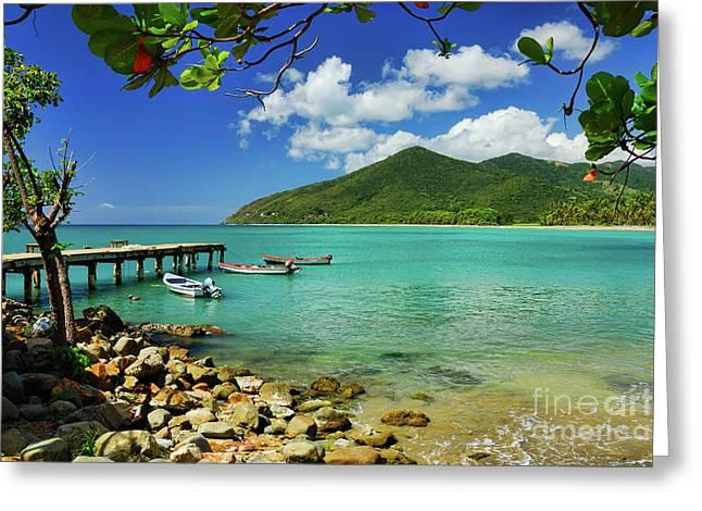 Puerto Manuabo 1 - Puerto Rico Greeting Card by JH Photo Service