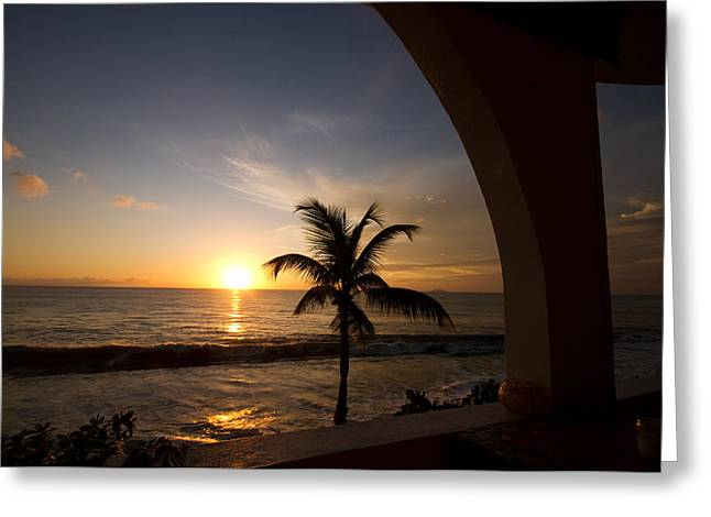 Puerto Rican Sunset I Greeting Card by Tim Fitzwater