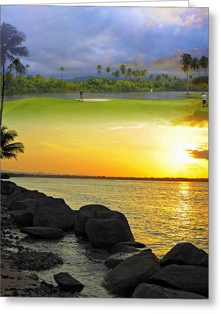 Puerto Rico Montage 3 Greeting Card by Stephen Anderson