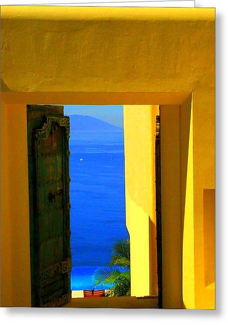 Puerto Vallarta Portal Greeting Card