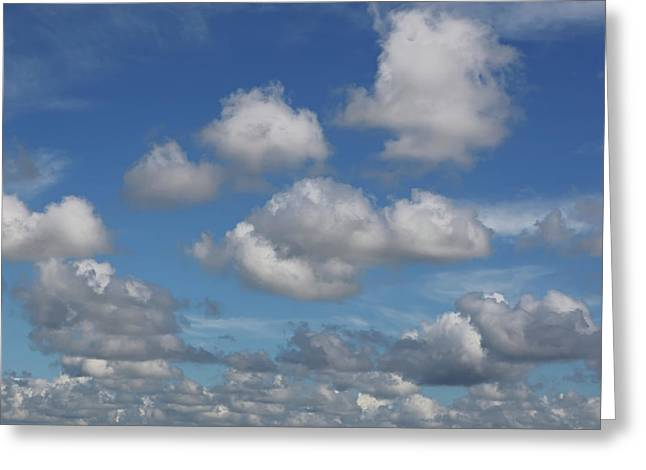 Puff Clouds Greeting Card by Nick  Shirghio