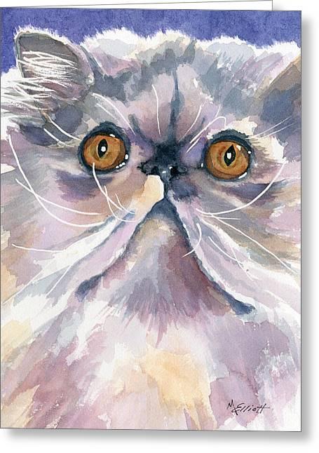 Puffball Of Sweetness Greeting Card by Marsha Elliott