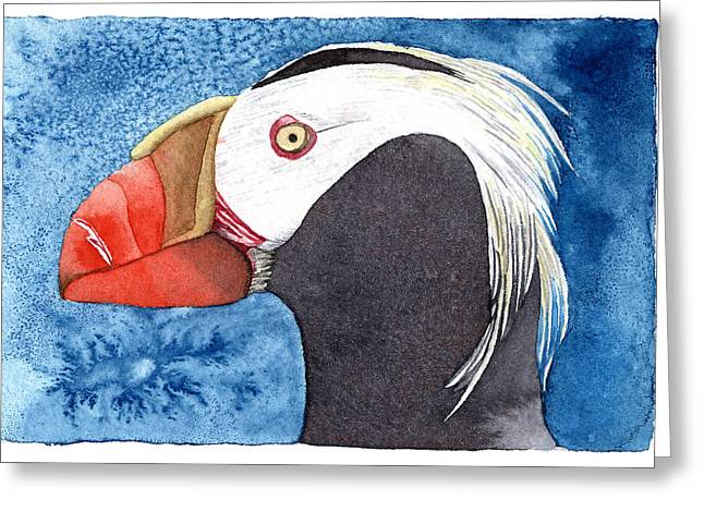 Puffin Greeting Card by Eunice Olson