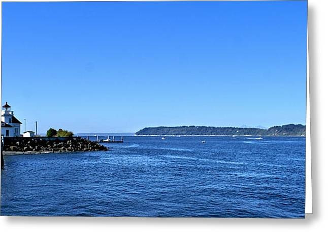 Puget Sound Light Hosue Greeting Card