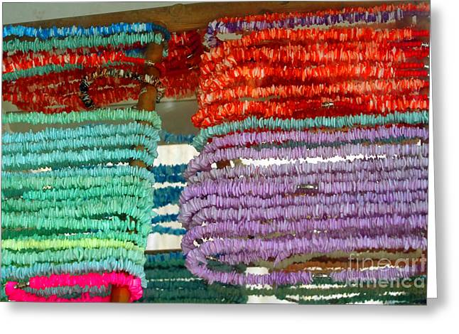 Puka Shell Jewelry Greeting Card by Susan Stevenson