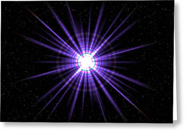 Pulsar Greeting Card by Roger Harris