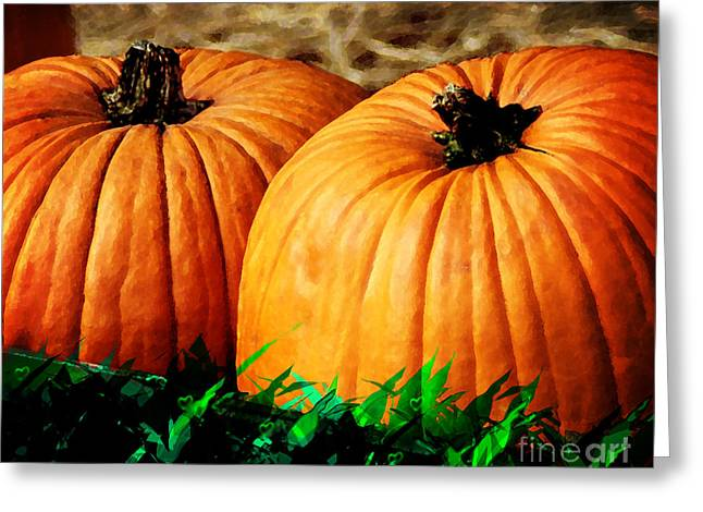 Pumkin Party Greeting Card by Kyle Nichols