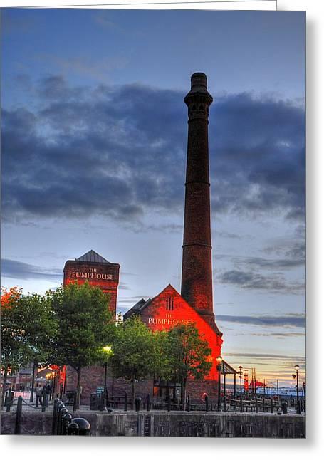 Pump House Liverpool Greeting Card by Barry R Jones Jr