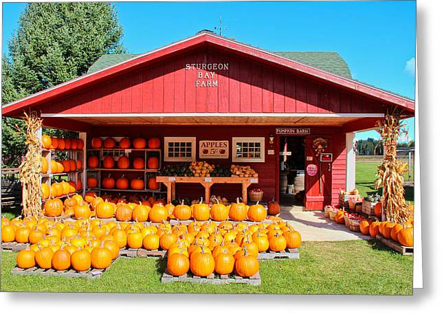 Pumpkin Barn Greeting Card