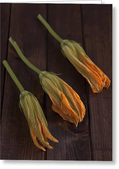 Pumpkin Blossoms Greeting Card