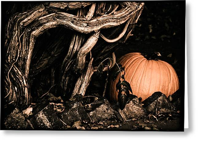 Albuquerque, New Mexico - Pumpkin Greeting Card