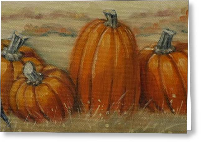 Pumpkin Row Greeting Card