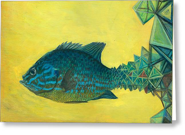 Pumpkin-seed Sunfish Greeting Card by Vincent Fink