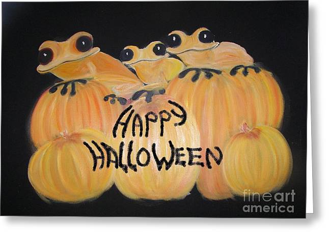 Pumpkin Two Greeting Card by Rachel Carmichael