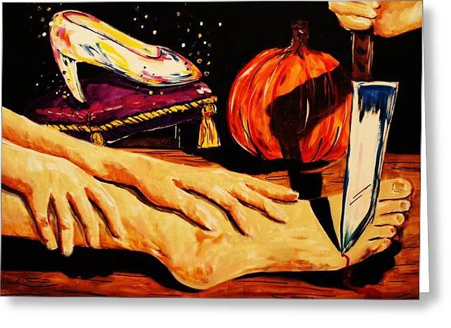 Pumpkin23 - A Cinderella Story Greeting Card by Paula Shaughnessy