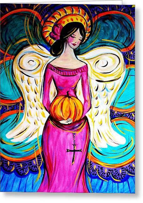 Pumpkin9 Greeting Card by Paula Shaughnessy